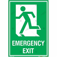 Emergency Exit Signs in Portrait