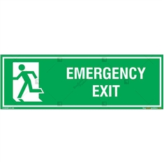 Emergency Exit Signs in Rectangle