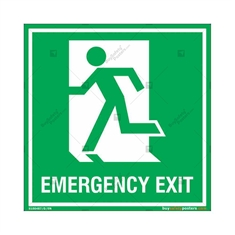 Emergency Exit Signs in Square