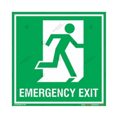 Emergency Exit Sign in Square