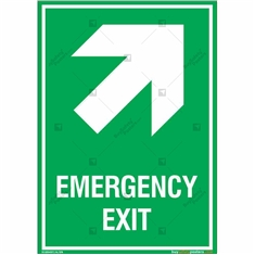 Emergency Exit Sign in Portrait