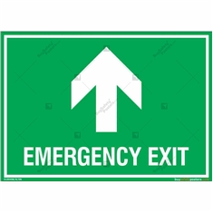 Emergency Exit Sign in Landscape