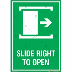 Slide Right to Open Sign in Portrait