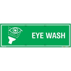 Eye Wash Sign in Rectangle