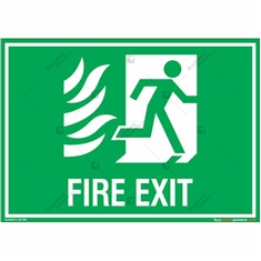 Fire Exit Sign in Landscape