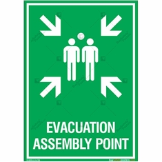 Evacuation Assembly Point Sign in Portrait