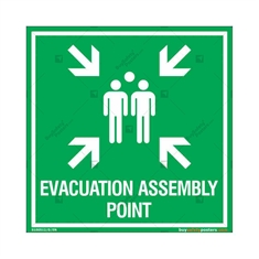 Evacuation Assembly Point Sign in Square