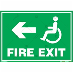 Fire Exit Signs for Disabled People in Landscape