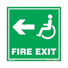 Fire Exit Signs for Disabled People in Square