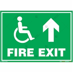 Fire Straight Exit Sign in Landscape